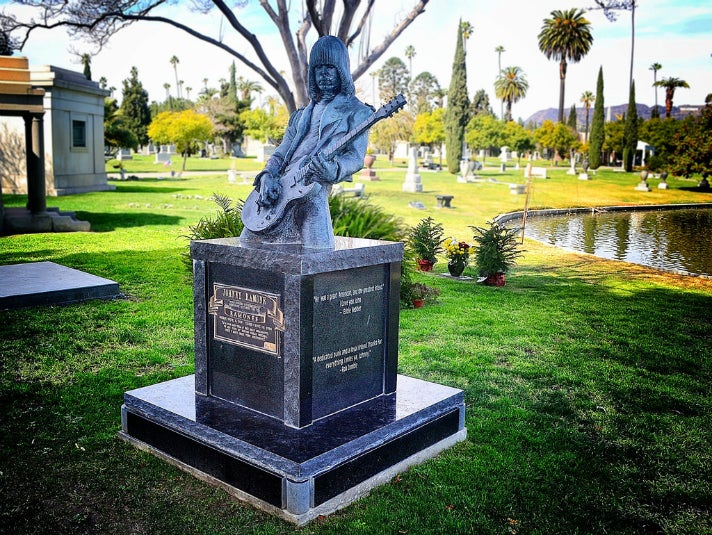 Johnny Ramone cenotaph at Hollywood Forever