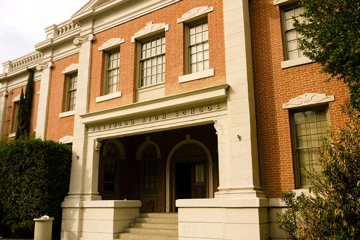 "Rosewood High School in ""Pretty Little Liars"" at Warner Bros. Studio"