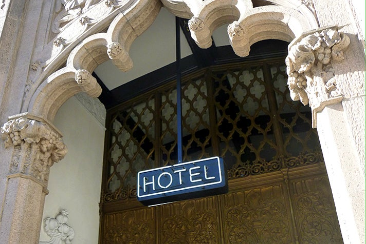 Entrance to the Ace Hotel Downtown Los Angeles