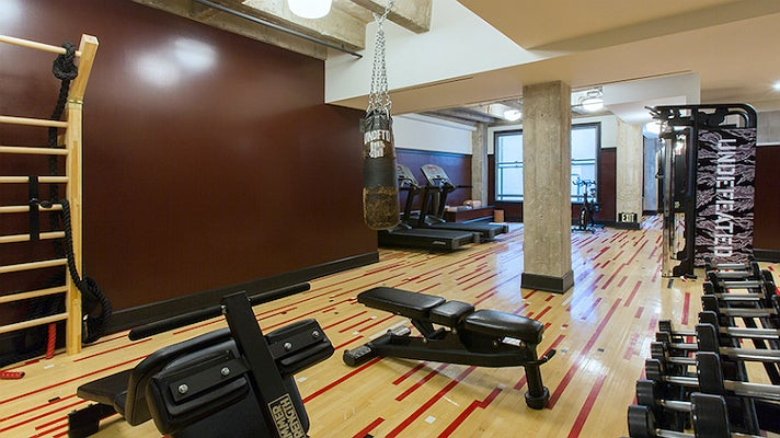 Fitness center at the Ace Hotel Downtown Los Angeles