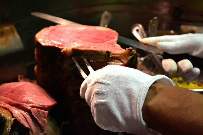 Carving at Lawry's The Prime Rib, Beverly Hills