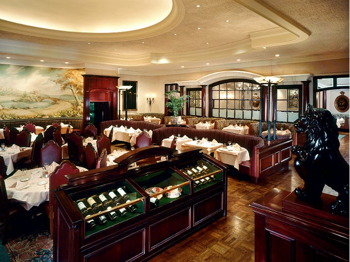 Dining room at Lawry's The Prime Rib in Beverly Hills