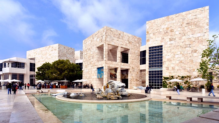 Courtyard, North and East Pavilions at the Getty Center