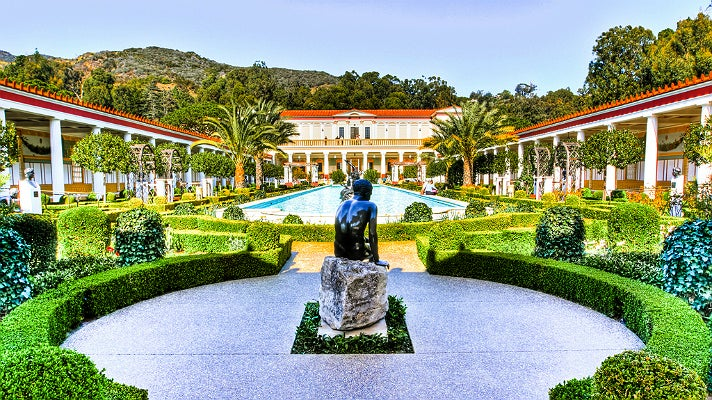 Getty Villa courtyard