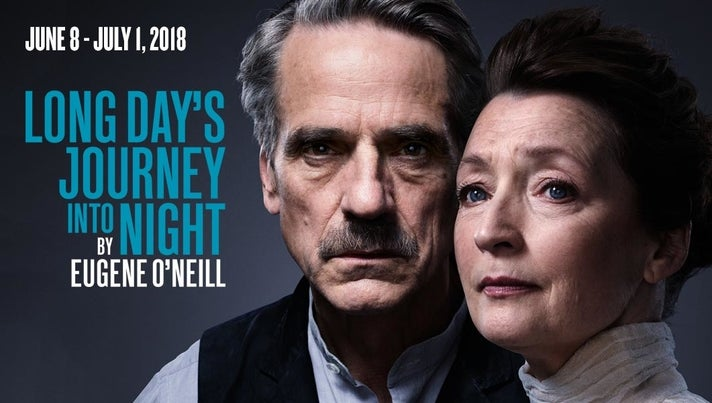 """Jeremy Irons and Lesley Manville in """"Long Day's Journey Into Night"""" at The Wallis Annenberg Center for the Performing Arts"""
