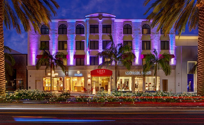 Luxe Rodeo Drive Hotel at night