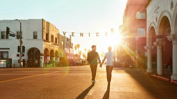 LGBT couple in Venice Beach