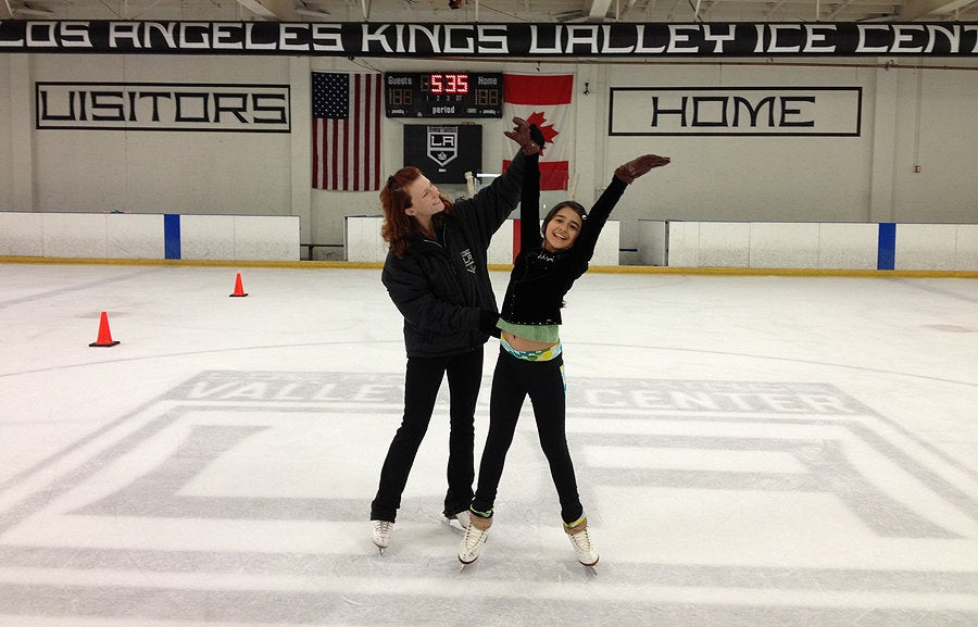 Skating lesson at  LA Kings Valley Ice Center