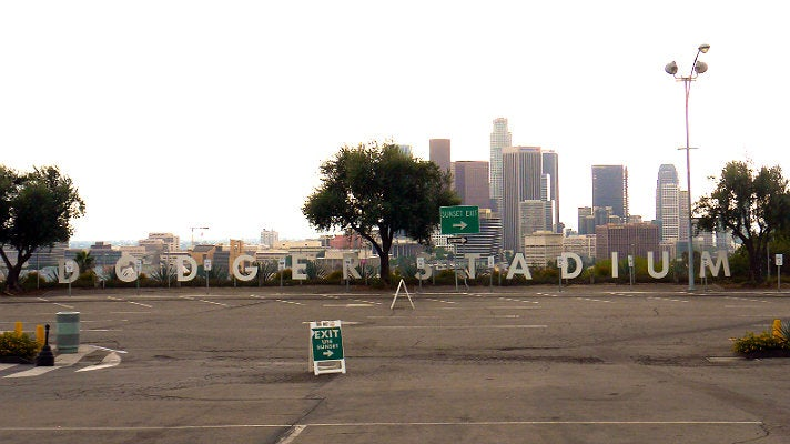 "Parking lot at Dodger Stadium from ""Furious 7"""