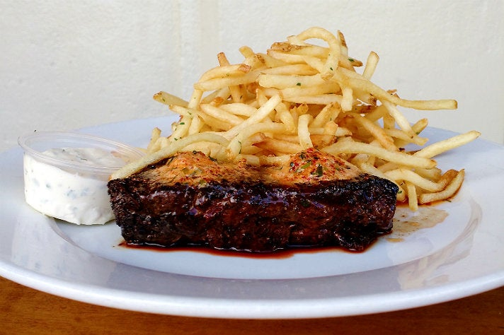 Steak frites at Father's Office